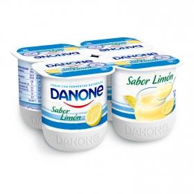 Yogur de limón Danone pack de 4 unidades de 125 g.