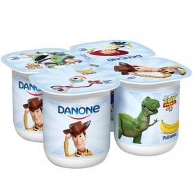 Yogur de plátano Danone pack de 4 unidades de 125 g.