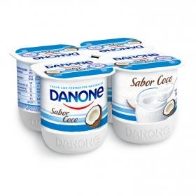 Yogur de coco Danone pack de 4 unidades de 125 g.
