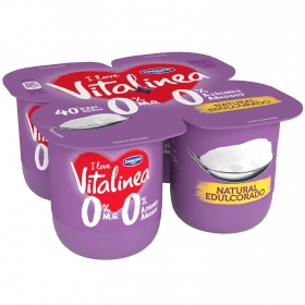 Yogur natural edulcorado desnatado