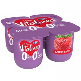 Yogur desnatado fresa