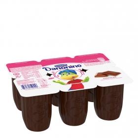 Petit de chocolate con leche Danone Danonino pack de 6 unidades de 55 g.