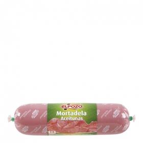 Mortadela clásica con aceitunas mini El Pozo sin gluten 380 g.