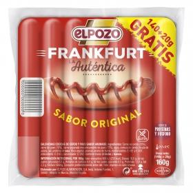 Salchichas cocidas Frankfurt El Pozo 160 g.