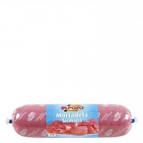 Mortadela siciliana El Pozo  sin gluten 400 g.