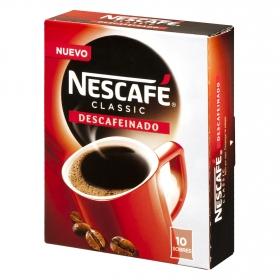 Café soluble descafeinado Classic en sobres