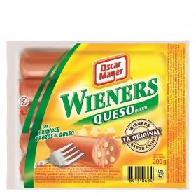 Salchichas cocidas estilo Viena Wieners con queso Oscar Mayer 200 g.