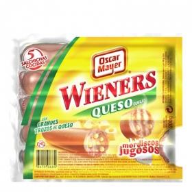 Salchichas cocidas estilo Viena Wieners con queso