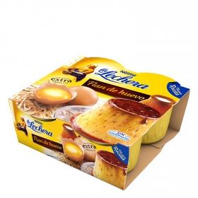 Flan de huevo Nestlé - La Lechera pack de 4 unidades de 110 g.