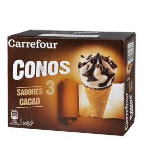 Helado cono 3 chocolates