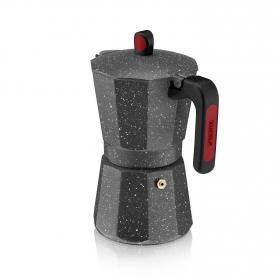 Cafetera Inducción MONIX Rock 12 Tazas - Negro