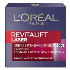 Crema intensiva anti-edad Revitalift Láser X3 L'Oréal-Revitalift 50 ml.