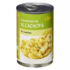 Corazones de alcachofa en cuartos Carrefour 240 g.