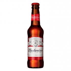Cerveza Budweiser Lager botella 33 cl.