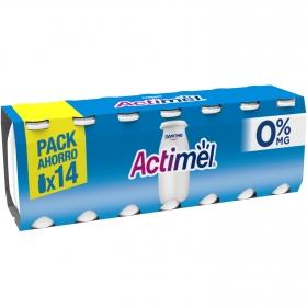 Yogur L.Casei desnatado liquido natural Danone Actimel pack de 14 unidades de 100 g.
