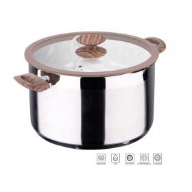 Olla Alta de Acero Inoxidable Granito 20cm Inox