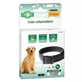 Collar antiparasitario negro perro grande