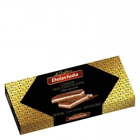 Turrón de tres chocolates Delaviuda 300 g.