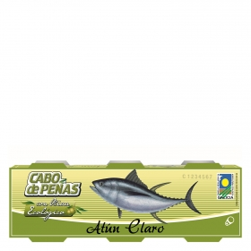 Atún claro con oliva ecológico Cabo de Peñas pack de 3unidades de 85 g.