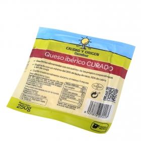 Queso curado ibérico Calidad y Origen Carrefour cuña 250 g