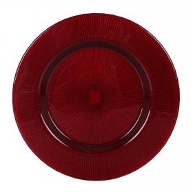 Plato Cristal Radiant 33 cm Rojo