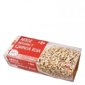 Arroz integral con quinoa roja para microondas Carrefour pack de 2 ud. de 125 g.