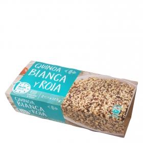 Quinoa roja y blanca microondas Carrefour pack de 2 ud. de 125 g.