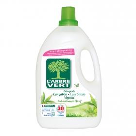 Detergente líquico ecológico con jabón vegetal L'arbre Vert 30 lavados.