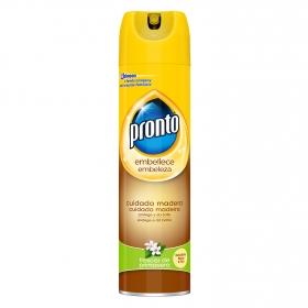 Limpiamuebles cuidado de madera Pronto 300 ml.