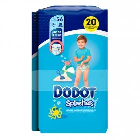 Pañales bañadores desechables Splashers talla 5-6 (14 kg+)