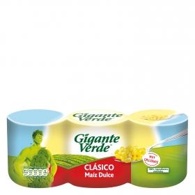 Maíz dulce original Gigante Verde pack de 3 unidades de 140 g.