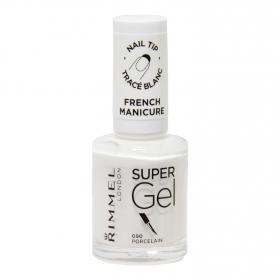 Laca de uñas Super Gel manicura francesa nº 090 Porcelana Rimmel 1 ud.