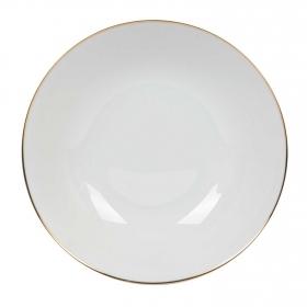 Ensaladera de Porcelana Pandora 25 cm Blanco Filo Oro