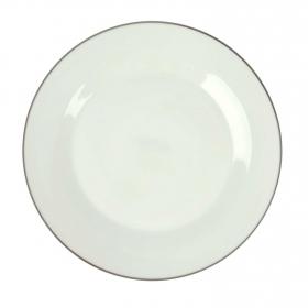 Fuente de Porcelana Ricard Camarena 30cm Blanco Filo Plata