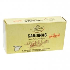 Sardinas en escabeche 3/5 De Nuestra Tierra 80 g.