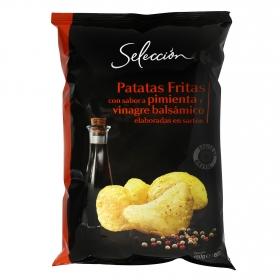 Patatas fritas sabor pimienta y vinagre balsámico Carrefour Selección 150 g.