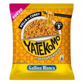 Fideos orientales Pollo al curry Yatekomo