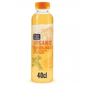 Refresco de naranja Organic sin gas botella 40 cl.