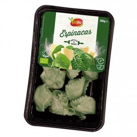 Pasta ecológica rellena de espinacas Vivibio 250 g.