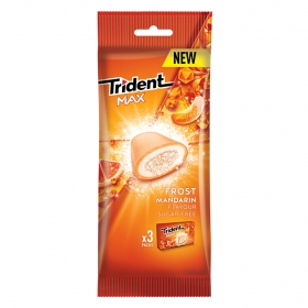 Chicles sabor mandarina Trident 3 paquetes de 20 g.