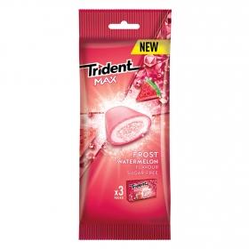 Chicles sabor fresa Trident 3 paquetes de 20 g.
