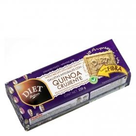 Galletas integrales con quinoa crujiente Diet Radisson 220 g.