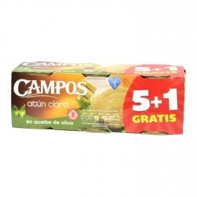 Atún claro en aceite de oliva Campos pack de 6 unidades de 52 g.