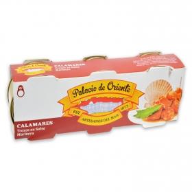 Calamares trozos en salsa marinera Palacio de Oriente pack de 3 unidades de 51 g.