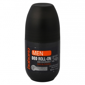 Desodorante roll-on para hombre sin alcohol Babaria 50 ml.
