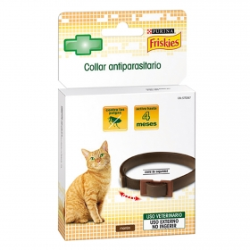 Collar antiparasitario marrón gato