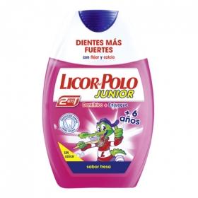 Dentífrico y Elixir 2 en 1 sabor a fresa con flúor