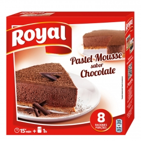 Preparado para pastel mousse sabor chocolate Royal 225 g.