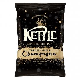 Patatas fritas sabor trufa, queso y champán Kettle 150 g.