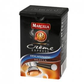 Café molido mezcla descafeinado créme express Marcilla 250 g.
